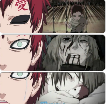 Gaara for sure!~ <33 A lot of people started to like him when his backstory was revealed or when he changed for the better, but I have LOVED him from the very beginning! The moment he appeared, I knew he was gonna be my favorite. Even back when he was a crazy little psycho, I found him to be... cute! ^.^ No one (or thing) could ever take his place in any way, shape, or form~ ☆