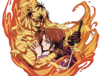 Honestly, there are probably a lot more, buuuut... Shishio's death in Rurouni Kenshin. It's dramatic, and it ain't pretty. I mean, a guy burning to death is pretty satisfying, wouldn't tu say?