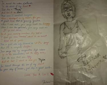 My not-so-good drawing of Taylor matulin and a not-so-good poem dedicating to her. Excuse my handwriting, I hope you'll be able to read it. For a bigger and clearer pic : http://www.fanpop.com/clubs/poulami%25E2%2582%25A1%25E1%2583%25A6%25E2%259C%25BB/images/39447329/title/taylor-art-fanart and the poem~ http://www.fanpop.com/clubs/taylor-swift/articles/254292/title/poem-taylor
