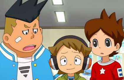 "Theres no way its weird :D its easy to have crushes on anime guys. for example i <3 Yokai Watch Eddie. he's the little one with headphones in the picture. i just find him cute and funny and i pag-ibig when he says stuff like ""its empty"" or ""this totem pole is going everywhere i go""! i just think he's cute. Kaanchi Imida is Eddie's japanese name, i found it out online. both his English and Japanese name are adorable >w< GO KAANCHI! I pag-ibig YOU! the people susunod too Eddie are madala and Nate. madala is the black haired guy, and Nate is the guy with the spikey hair and a bituin on his shirt. madala is Eddies best friend though, only if u dont know Yokai Watch. sorry.... i pag-ibig Eddie... but still ITS OOOOK to have crushes on characters."
