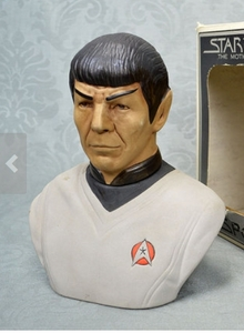 I have a bust of Mr. Spock Still in the original box in excellent condition. $40 dollars plus sh & hndlg. The picture shown is the type but not the actual.