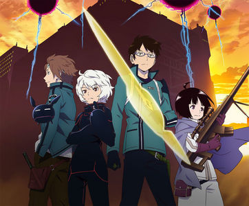World Trigger. A new عملی حکمت that was made not so long ago. It can be found on youtube but not translated. For now. The main heroine is Osamu Mikumo (Guy with glasses) Joins the trigger border (Border with trigger users) To help Chika Amatori (Girl). With the help of Yuma Kuga (Guy with white hair) They شامل میں border. The border fights neighbors. Neighbors and monsters that live اگلے to earth. Neighbors can also be humanoids like Yuma. Black triggers are the strongest trigger and Yuma has one. During border the 3 of them meet Yuichi Jin (Bae guy with brown hair) Jin also has a black trigger and is stronger than Yuma. That's enough of spoilers.
