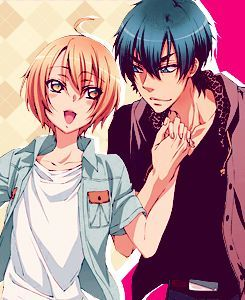 Izumi and Ryouma from Love Stage!!