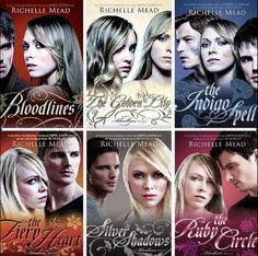 Bloodlines (1) The Golden Lily (2) The Indigo Spell (3) The Fiery hart-, hart (4) Silver Shadows (5) The Ruby cirkel (6) They're all out, the series is complete. :)