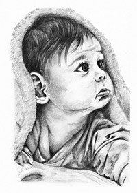 This is my drawing! It is of my baby cousin Liam!