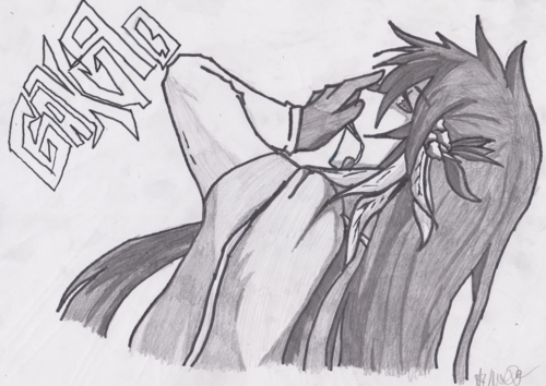 Geesh I havent drawn in ages... Uh let me see if I could find an old drawing of mine.