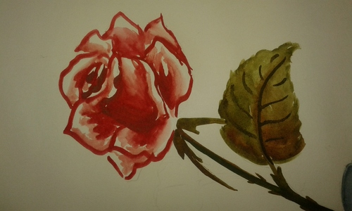 My pic of a rose :) *sigh* it uploaded awkwardly :(