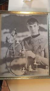 I am looking to sell this autographed Foto of L.Nimoy...anyone interested?