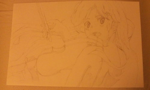 That is AMAZING!!! We are almost the same age, I'm 13! Do 你 like my drawing, it is of Kaori Miyazono (Shigatsu wa kimi no uso). The lighting is bad because of my crappy phone