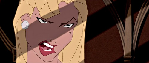 "She's more of a villain ""sidekick"", but it's Helga Sinclair from Atlantis."