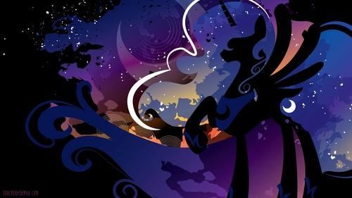 im Princess Luna, well a Hintergrund of her