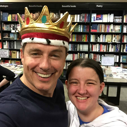 Me and John Barrowman today in Edinburgh at a book signing :D