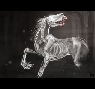 An evil horse ghost