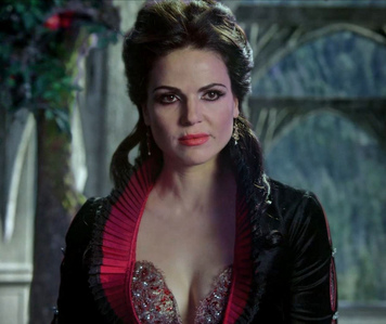 Regina/The Evil Queen from Once Upon A Time, which is owned sejak Disney, which is how the tunjuk is able to get away with using A LOT of Disney characters.