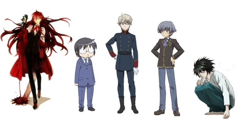 Only five? Alright, I'll try. In my opinion, these are the most fabulous anime guys:  5. Grell Sutcliff (Black Butler)  4. Daichi Muroto (Kotoura-San)  3. Slaine Troyard (Aldnoah.Zero) 2. Kota Tsuchiya (Baka and Test) ] 1. L (Death Note)