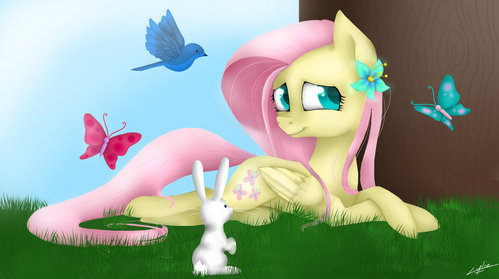 I think I would be fluttershy.