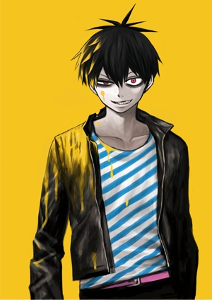 Staz C. Blood (Blood Lad) He's a vampire, gang leader, and a nerd that loves the human world. Braz D. Blood (Blood Lad) He's Staz's older brother, vampire, and very stuck up...he also wears glasses. Sebastian (Black Butler) He's simply one hell of a butler. Itachi Uchiha *kind of* (Naruto/Naruto: Shippuden) ...*cries* Asura (Soul Eater) He's the Kishin, and the cause of all insanity. Ryuk (Death Note) He's a shinigami. He's the one that dropped the Death Note in the human world. :/ ....... That's all I can think of. :T (the picture is Staz~)