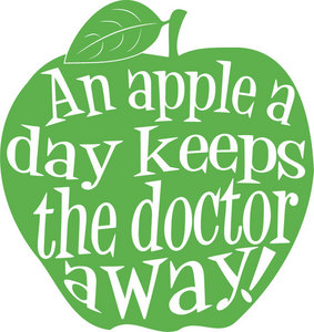 Instead of visiting doctor u should eat an apple because!!!: