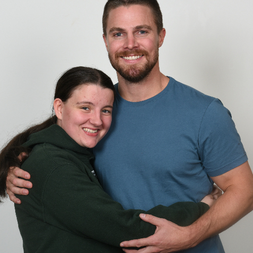 Me and Stephen Amell from City of heroes 2 con!!! He's so beautiful <3
