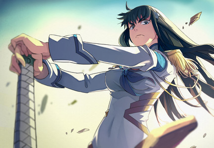 There are quite a few. One of them is Satsuki Kiryuin from Kill la Kill !!!!