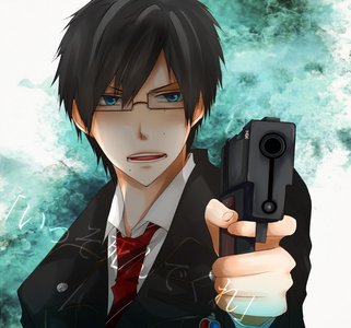 Yukio from Blue Exorcist, I guess. I always forget he's 15 and think he's 20 or something. :T