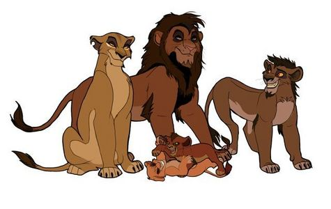 Zira is Nuka, Vitani and Kovu's biological mother. her children have called her 'mother' as cubs also. Their father is an unknown rouge who is never mentioned in the film. Zira is Scar's follower and অনুরাগী girl who's obsessed with him. Vitani is not adopted she's clearly Zira's biological daughter. Nuka is complaining about Kovu is because he's jealous of him being heir to Scar rather than him when he's older and feels he should be পরবর্তি in line to take over. Nuka isn't Scar's child ether when Kovu's father isn't Scar ether. Zira had all of them দ্বারা her ex mate which can ether be dead অথবা Zira left him for Scar. Vitani got her blue eyes from most likely her biological unknown father, Nuka gotten his black goatee from his father who is not Scar but an unknown male who fathered all of Zira's cubs. Zira's cubs have a mixture between her and their unknown rouge father. Scar is not their father. and yes, it's most likely that Kovu and Vitani are litter mates when they look the same age and same size. This pic I found is clearly what Zira's cubs' father may look like.