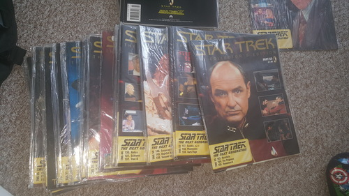 We have star, sterne trek the Weiter generation. Collectors edition . The entire collection. All in original bags oder cling filmed. Excellent condition. Started in 2004. 65 magazines and 65 dvd too. Anyone interested