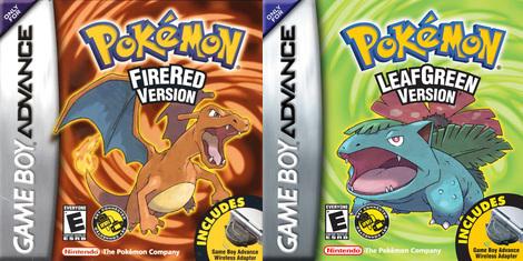 1.pokemon fuego red and Leaf green 2.Pokémon Diamond & Pearl 3.Pokémon Ruby & Sapphire