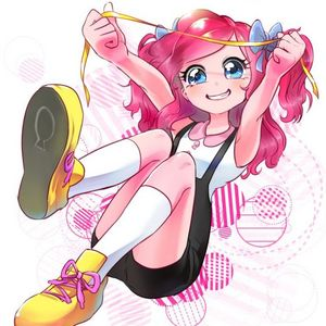Here's Pinkie Pie drawn as a human anime chick. :3