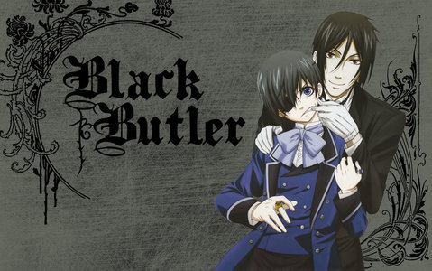 Ciel Phantomhive! <3 and Sebastion Michaelis! <3 (( btw this is my desktop background at the moment )) :P