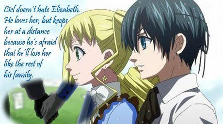 Ciel <3 He's actually kindhearted to Lizzie and loves her so I think I would want to petsa Ciel. Lizzie x Ciel 4ever ♥ Guess what? I searched up the meaning behind the name Ciel and it actually means Sky or Heaven >.<