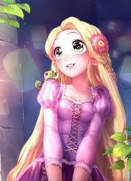 RAPUNZEL as anime Disney blends with Animax XD