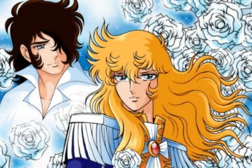 """André and Lady Oscar from the""""The Rose of Versailles""""anime."""