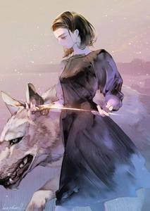 This pretty rad fanart of Arya Stark showed up on my Facebook feed the other day.