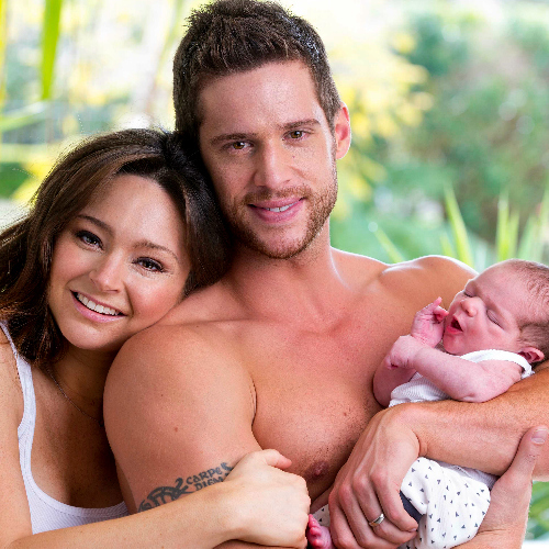 Dan Ewing with his Son, Archer and his ex Marni.
