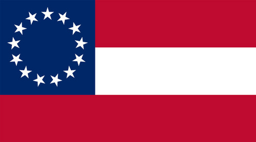 The Confederate States of America flag.