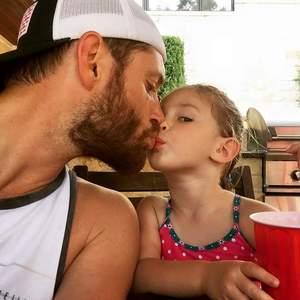 Jensen and his daughter JJ