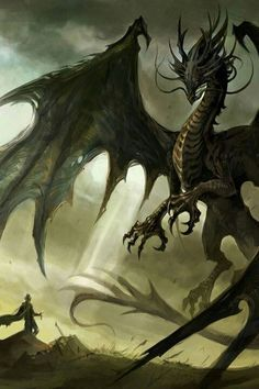a HUGE black dragon, with wings as big as the sky. I would be the alpha of all dragons. like in this exact photo, but what u see as the man is what people would consider BIG dragons.