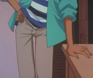 Heiji is the best detective But see the below it's Heiji's sekushi posu (sexy pose)