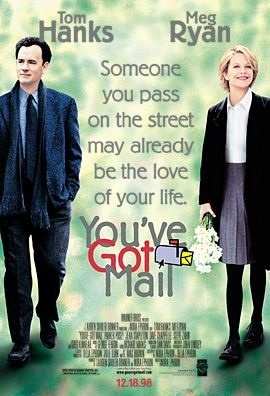 """The movie you're referring to is Tom Hanks and Meg Ryans' movie """"You've Got Mail"""" (1998). Hope this helps."""