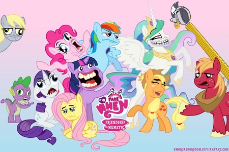 I used to be completely obsessed with My Little Pony: Friendship is Magic. Hahhh...times sure have changed. *sinks deeper into a pile of animé merchandise*