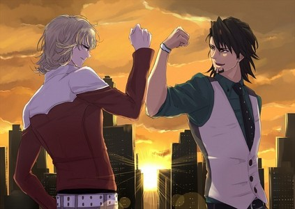 Kotetsu x Barnaby (Tiger & Bunny) I will sink with this ship. <3