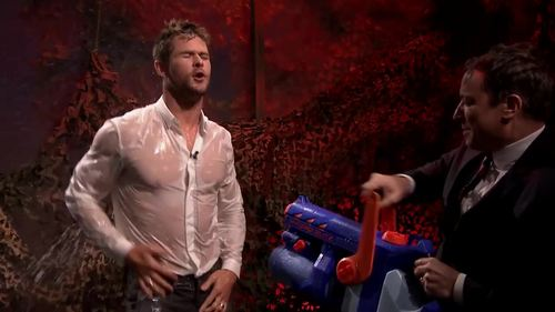 Chris Hemsworth...you can see everything thanks to that wet chemise