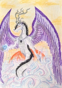 I accidentally learned about this orientation on the Internet, I saw a deviantART profile of an asexual person. So I started reading about it and I found out it matches me. This was a great day :) I was very happy that I learned something new about myself. A few horus later I made a symbolic drawing with ace dragon (I love these creatures).