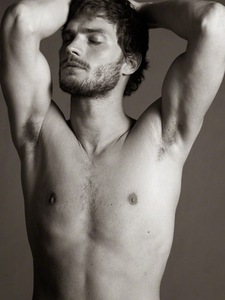 Holy shirtless Dornan
