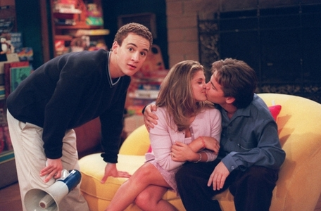 Ben Savage bending over while Rider kisses Danielle Fishel. :D