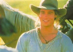 beautiful Brad from Legends of the Fall in a cowboy hat