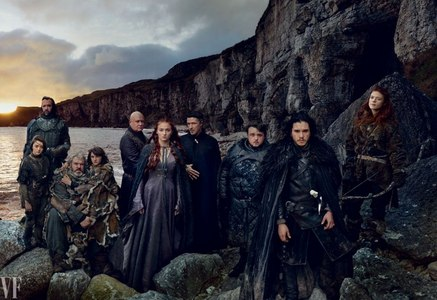 Kit and his GOT cast members