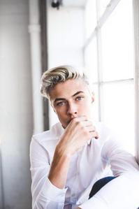Lucky blue in white