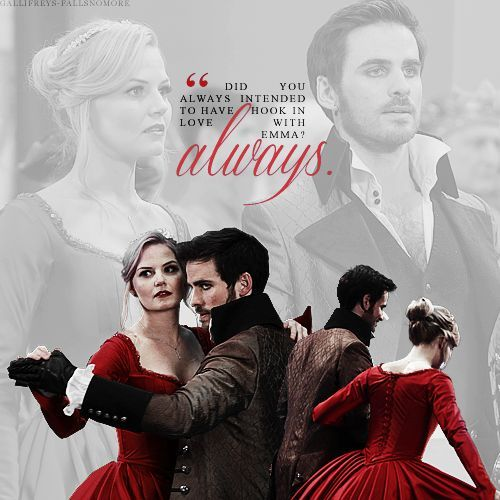 Colin in a scene from OUAT with his on screen love,Jennifer Morrison